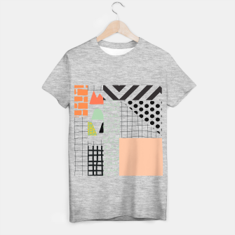 minimal abstract coral T-shirt regular thumbnail image