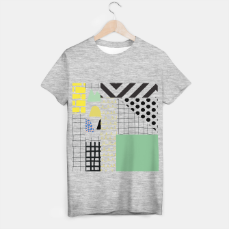 minimal abstract green T-shirt regular thumbnail image