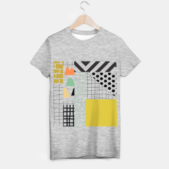 minimal abstract yellow T-shirt regular thumbnail image
