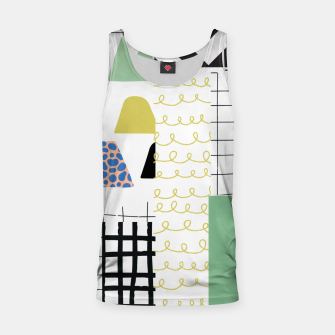 minimal abstract green Tank Top thumbnail image