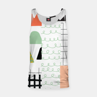 Miniature de image de minimal abstract coral Tank Top, Live Heroes