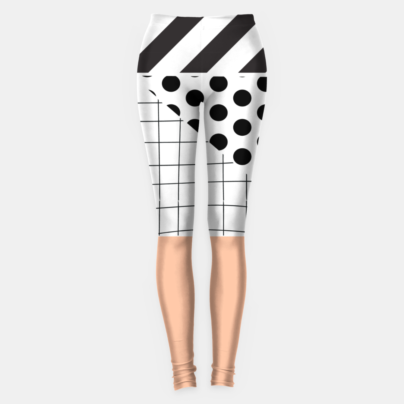 Image of minimal abstract coral Leggings - Live Heroes