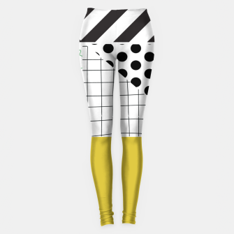 Thumbnail image of minimal abstract yellow Leggings, Live Heroes