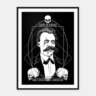 Thumbnail image of Undead Nietzsche Framed poster, Live Heroes