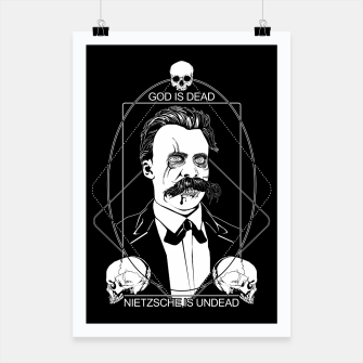 Thumbnail image of Undead Nietzsche Poster, Live Heroes