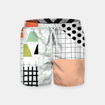 Miniature de image de minimal abstract coral Swim Shorts, Live Heroes