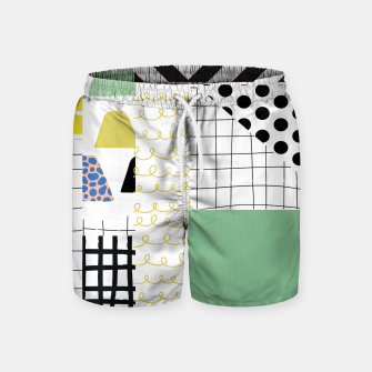 Thumbnail image of minimal abstract green Swim Shorts, Live Heroes