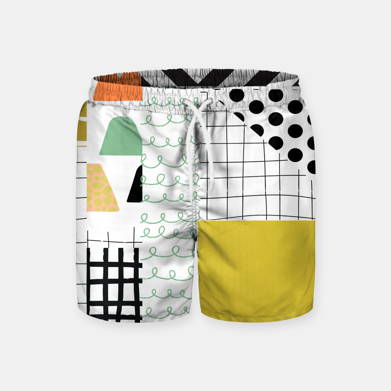 Image of minimal abstract yellow Swim Shorts - Live Heroes