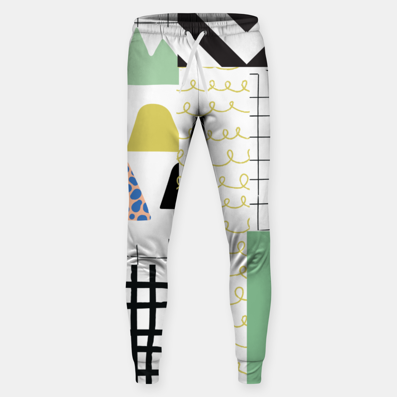 Image of minimal abstract green Sweatpants - Live Heroes