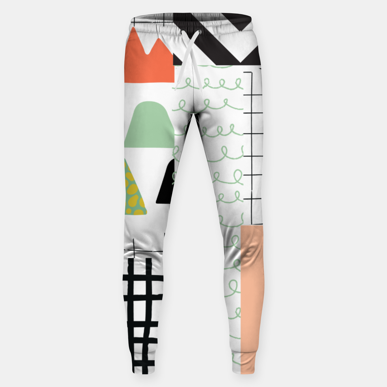 Image of minimal abstract coral Sweatpants - Live Heroes