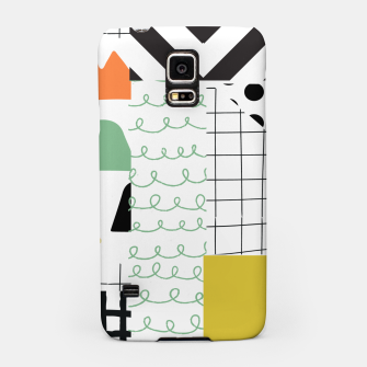 Miniature de image de minimal abstract yellow Samsung Case, Live Heroes