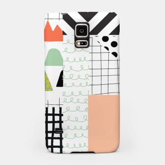 Miniature de image de minimal abstract coral Samsung Case, Live Heroes