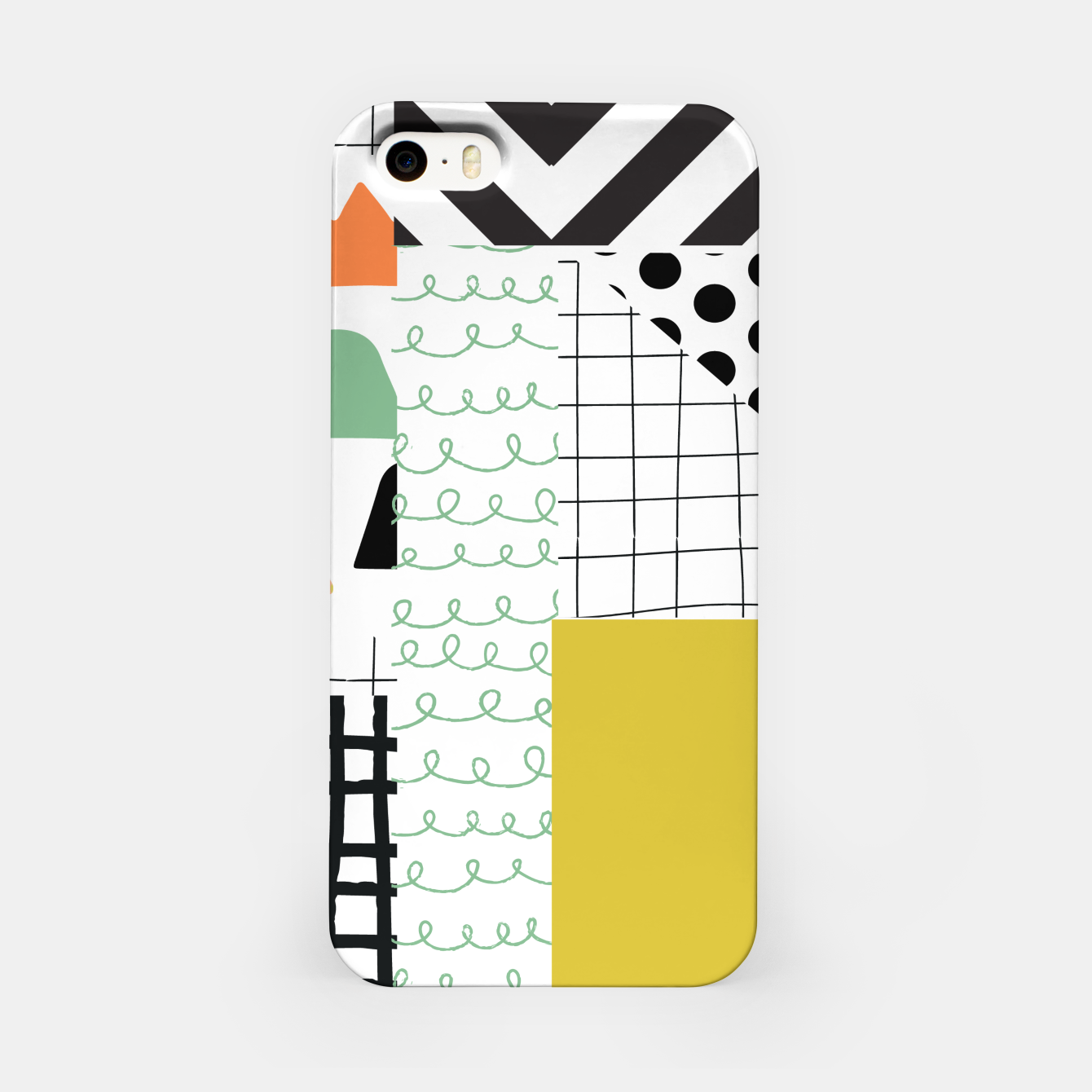Image of minimal abstract yellow iPhone Case - Live Heroes