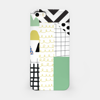Miniature de image de minimal abstract green iPhone Case, Live Heroes