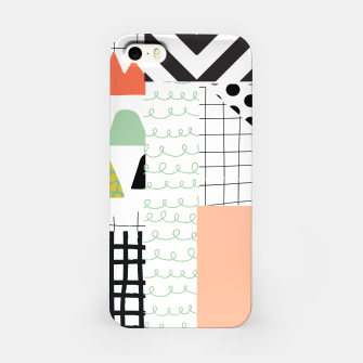 Miniature de image de minimal abstract coral iPhone Case, Live Heroes