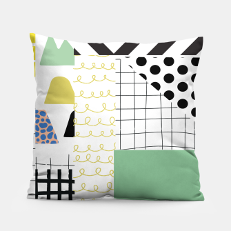 Thumbnail image of minimal abstract green Pillow, Live Heroes