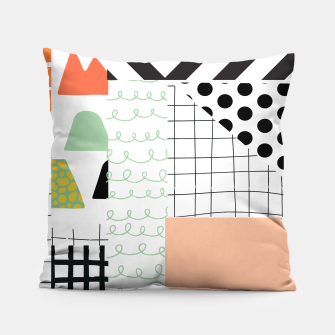 Miniature de image de minimal abstract coral Pillow, Live Heroes