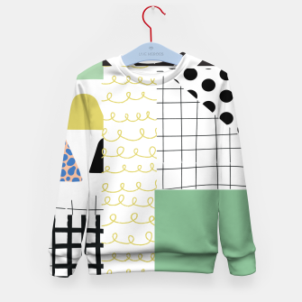 Thumbnail image of minimal abstract green Kid's sweater, Live Heroes