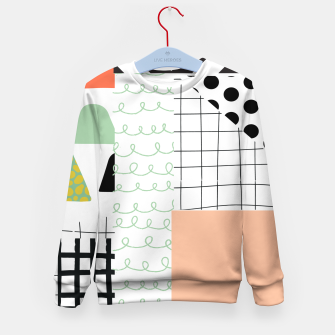 Miniature de image de minimal abstract coral Kid's sweater, Live Heroes