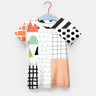 minimal abstract coral Kid's t-shirt thumbnail image