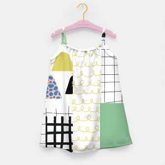 Imagen en miniatura de minimal abstract green Girl's dress, Live Heroes