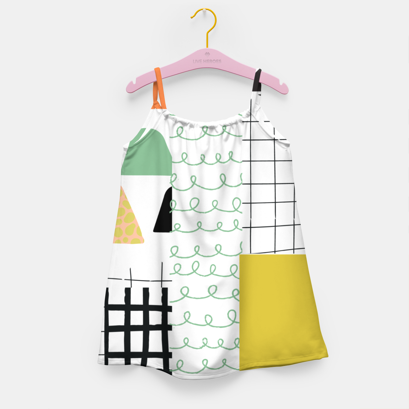 Image of minimal abstract yellow Girl's dress - Live Heroes