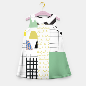 Miniature de image de minimal abstract green Girl's summer dress, Live Heroes