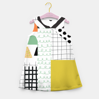 Miniature de image de minimal abstract yellow Girl's summer dress, Live Heroes