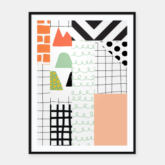 Thumbnail image of minimal abstract coral Framed poster, Live Heroes