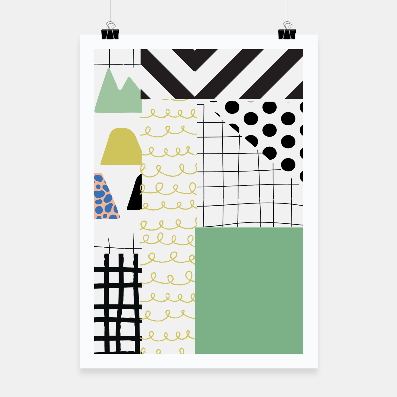 Image of minimal abstract green Poster - Live Heroes