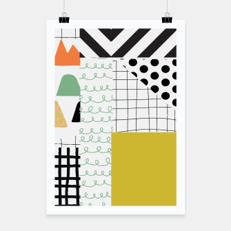 Imagen en miniatura de minimal abstract yellow Poster, Live Heroes