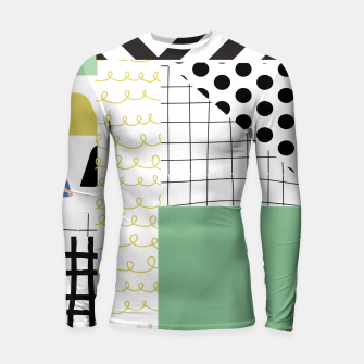 Thumbnail image of minimal abstract green Longsleeve rashguard , Live Heroes