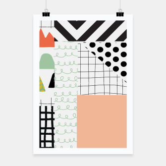 Thumbnail image of minimal abstract coral Poster, Live Heroes