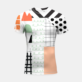 minimal abstract coral Shortsleeve rashguard thumbnail image