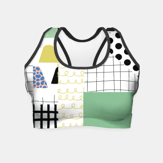 Thumbnail image of minimal abstract green Crop Top, Live Heroes