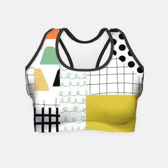 minimal abstract yellow Crop Top thumbnail image