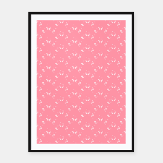 Thumbnail image of small simple geometric pattern pwi Framed poster, Live Heroes