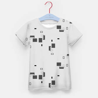 Thumbnail image of simple geometric pattern bw Kid's t-shirt, Live Heroes