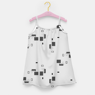 Thumbnail image of simple geometric pattern bw Girl's dress, Live Heroes