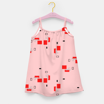 Thumbnail image of simple geometric pattern 2s Girl's dress, Live Heroes