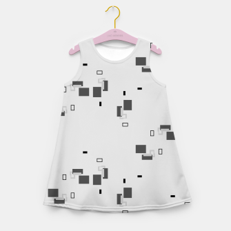 Thumbnail image of simple geometric pattern bw Girl's summer dress, Live Heroes
