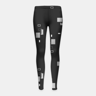 Miniature de image de simple geometric pattern bwi Girl's leggings, Live Heroes