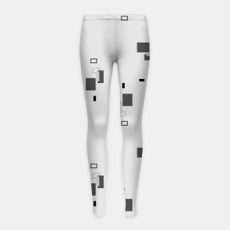 Thumbnail image of simple geometric pattern bw Girl's leggings, Live Heroes