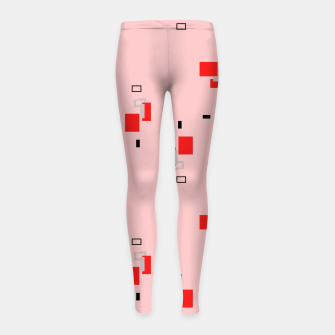Thumbnail image of simple geometric pattern 2s Girl's leggings, Live Heroes