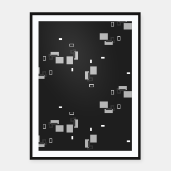 Thumbnail image of simple geometric pattern bwi Framed poster, Live Heroes
