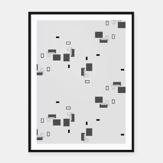 Thumbnail image of simple geometric pattern bw Framed poster, Live Heroes