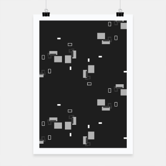 Thumbnail image of simple geometric pattern bwi Poster, Live Heroes