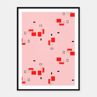 Thumbnail image of simple geometric pattern 2s Framed poster, Live Heroes