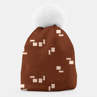 simple geometric pattern co Beanie imagen en miniatura