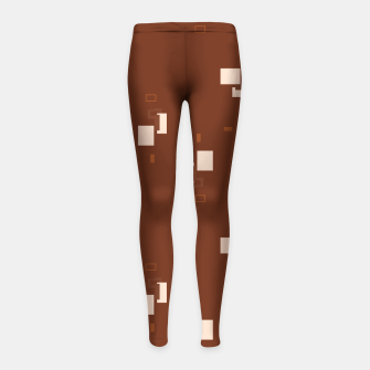 Thumbnail image of simple geometric pattern co Girl's leggings, Live Heroes